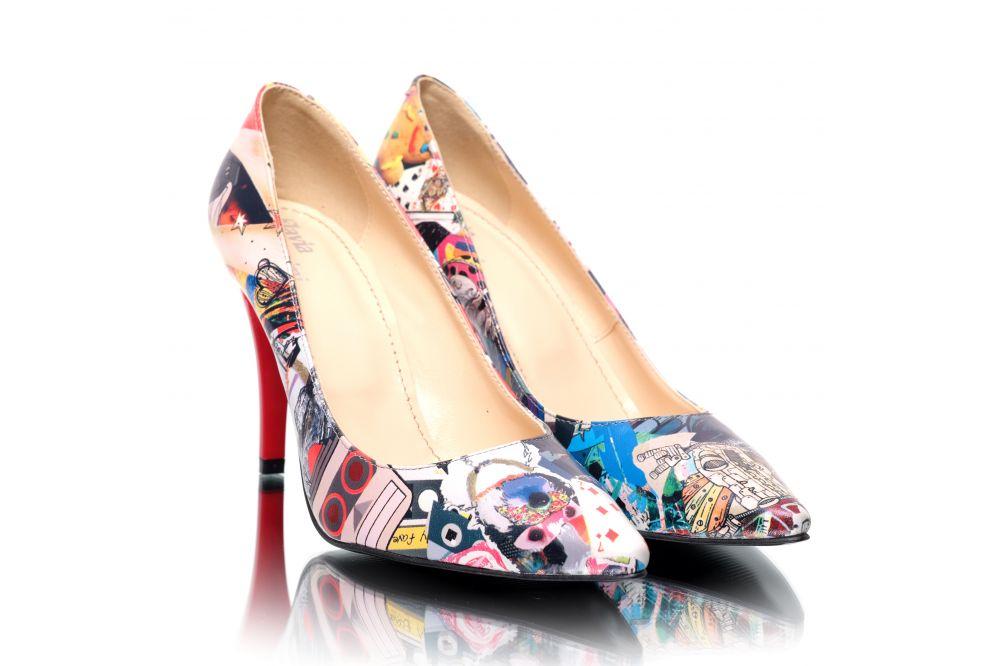 Pantofi din piele naturala cu design unicat Pantofini Addict